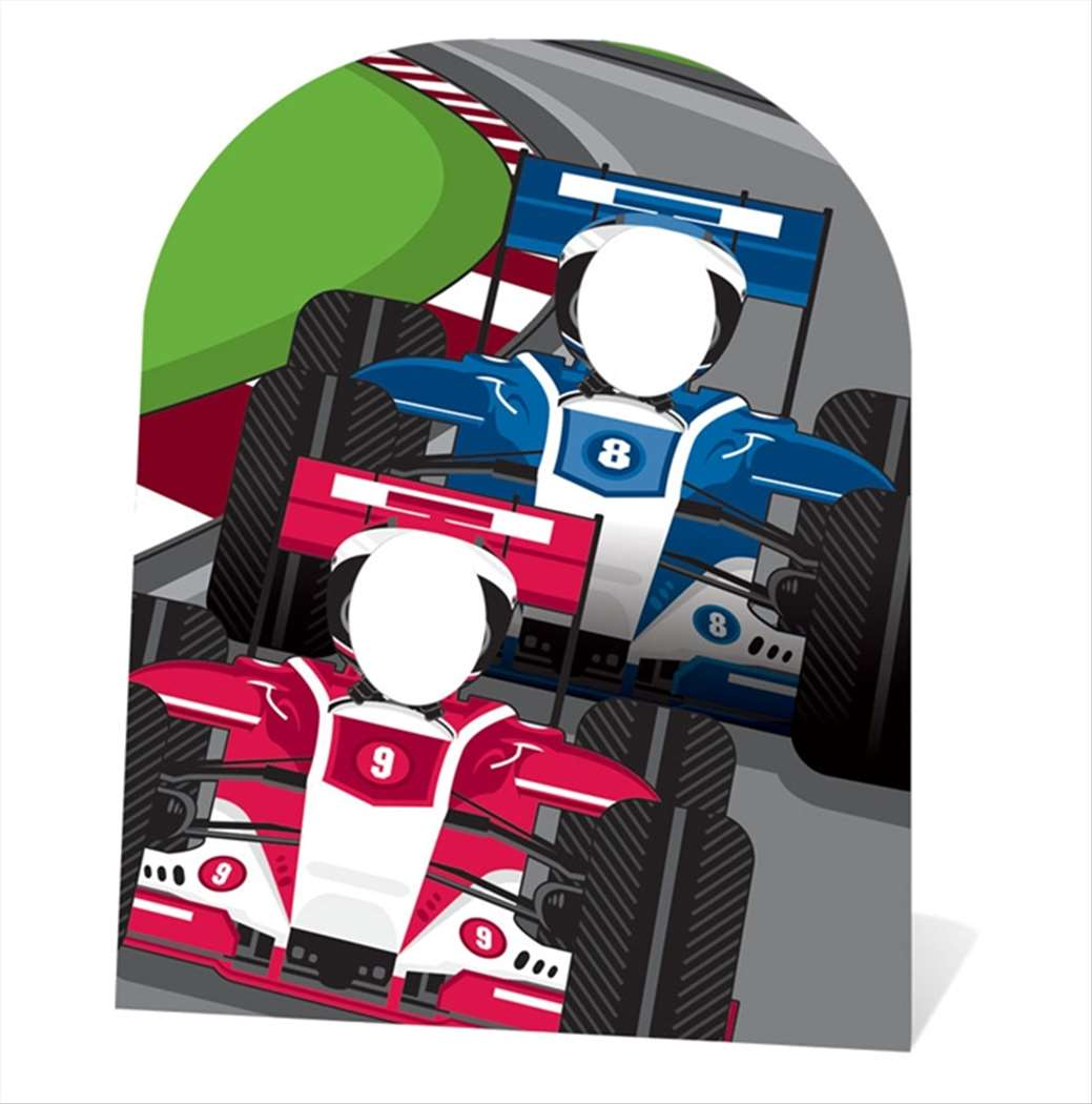 Racing Cars Child Size Cardboard Stand In Cutout Standup Style