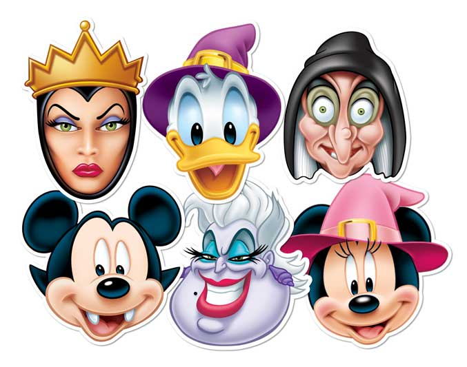 Official DISNEY Party Face Masks MICKEY MOUSE MUPPETS