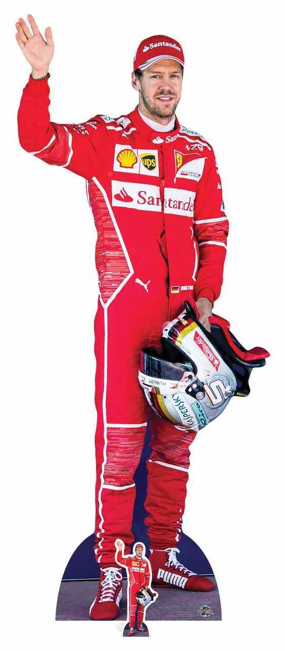 Standee Raikkonen Motor Racing Driver Lifesize with Mini Cardboard Cutout