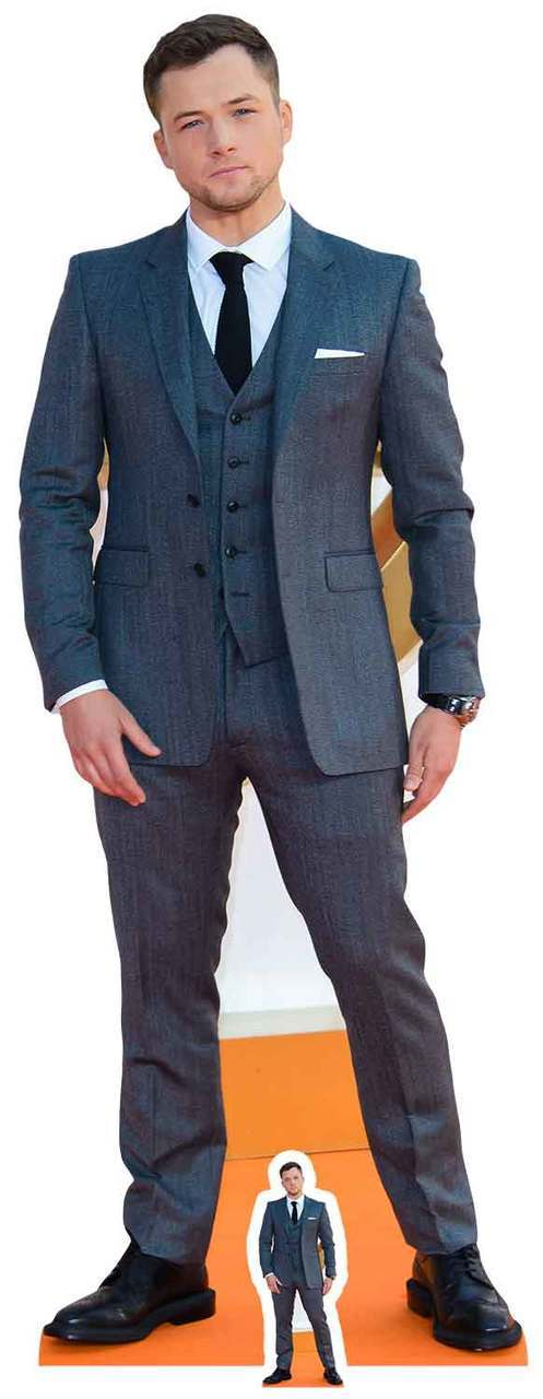 Taron Egerton Lifesize And Mini Cardboard Cutout Standup Kingsman Actor Eggsy Ebay