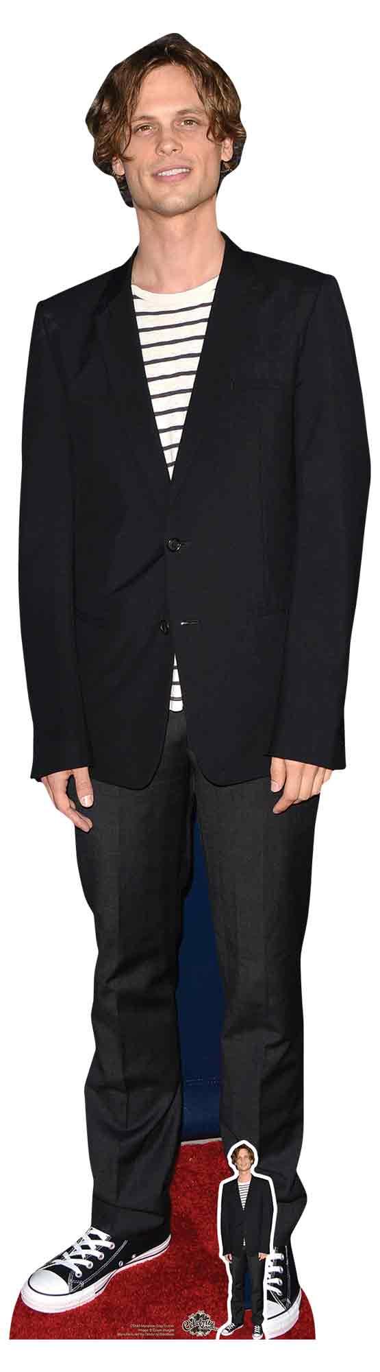 Matthew Gray Gubler Black Jacket Celebrity Cardboard Cutout and FREE Mini