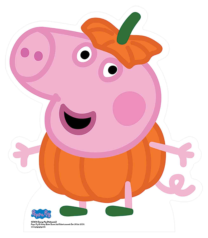 Standee Stand Up Spooky Fun Peppa Pig Halloween Pumpkin Cardboard Cutout